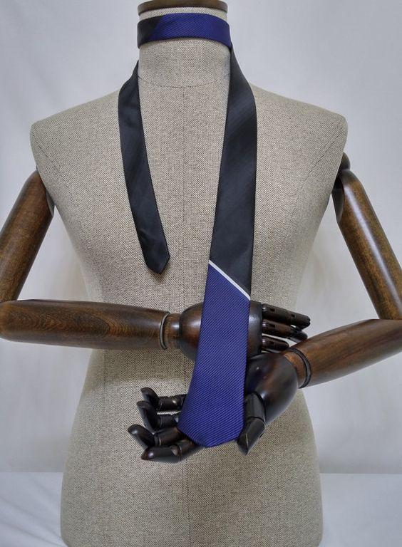 Black Skinny Necktie, Black Men's Tie, Black Cravat, Black Tie - SL079 #handmadeatamazon #nazodesign