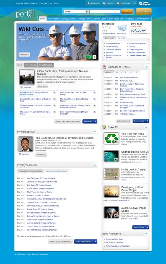 duke energy intranet on sharepoint 2010 intranets