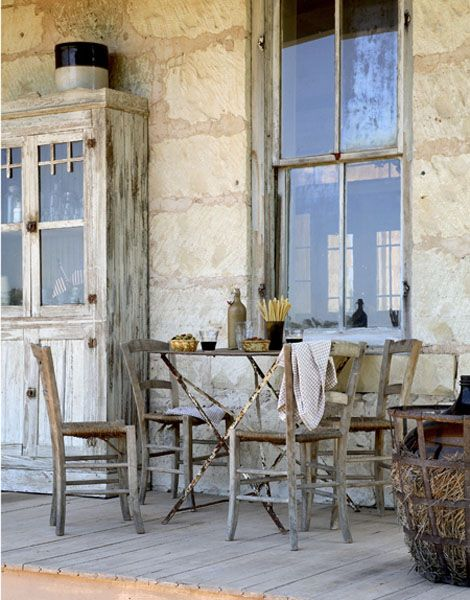 Primitive Country: Outdoor Dining, Rustic Porch, Outdoor Living, Country Living, Outdoor Spaces, Primitive Porch, Front Porches