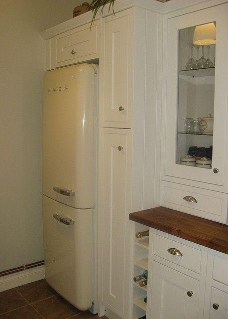 Built in storage around fridge