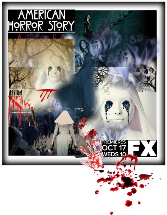 """American Horror Story: Asylum"" by hilaryjmagee ❤ liked on Polyvore"