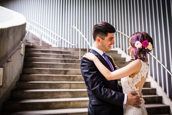 Aqua building wedding photo before a Hideout Chicago wedding