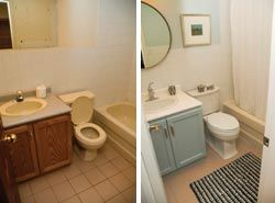 Bathroom Renovations Before and After - Let Astrong Construction Makover Your Bathroom www.BathRoomMakeoversSouthBend.com