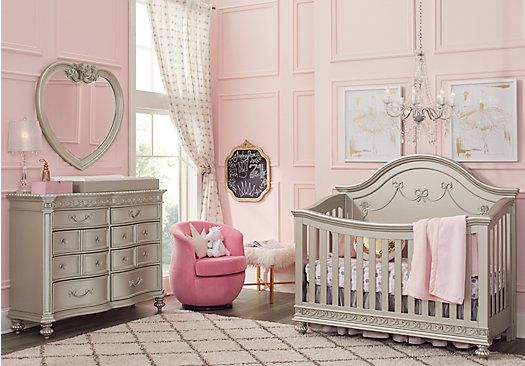 Disney Princess Silver 4 Pc Nursery | Bedroom furniture ...