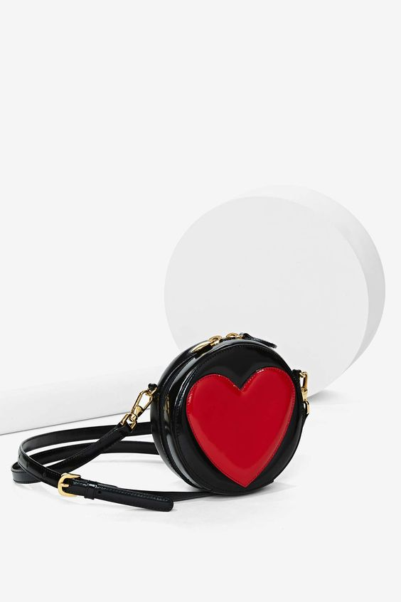 Vintage Moschino Heart Leather Bag
