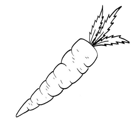 Carrot Coloring Pages For Your Little Angels Angel Coloring
