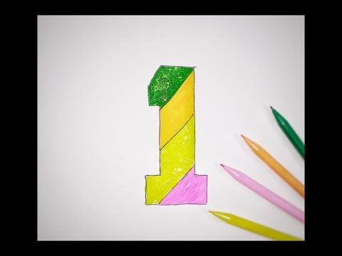 Glitter Number 1 Drawing Number For Kids And Coloring Number For Baby Learn Color For Toddler Youtube Learning Colors Colors For Toddlers Baby Learning