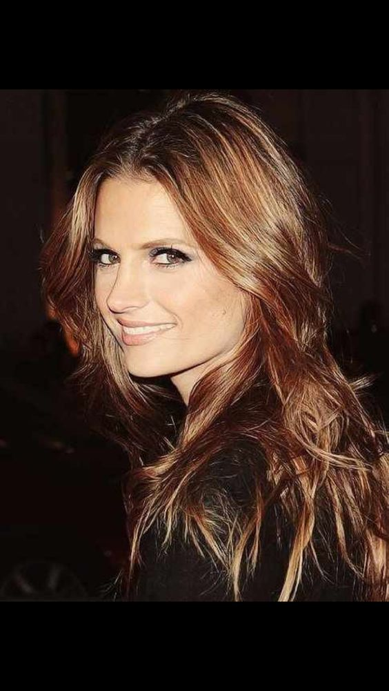 I Want This Hair Color Plus I Love Stana Katic From Castle Best