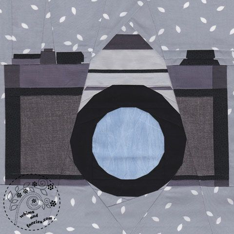 Paper Piecing Cameras And Quilt Patterns On Pinterest