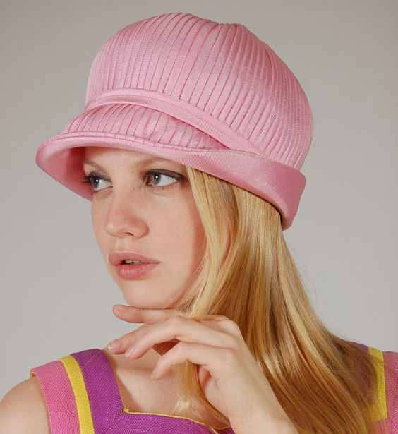 Vintage Cloche Hat Mod Pink TWIGGY Driving Hat by LotusvintageNY, $65.00