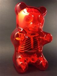 DOUBLE SIGNED Jason Freeny Gummi Bear Anatomy Figure Red