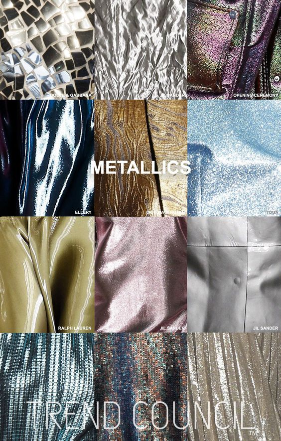 Tendances : Trend Council presents the FW16 Key Materials Report. The team has…