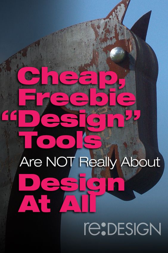 """Cheap, Freebie """"Design"""" Tools Are Not Really About Design At All http://www.redesign2.com/1/post/2014/04/cheap-freebie-design-tools-are-not-really-about-design-at-all.html #DIY #design"""