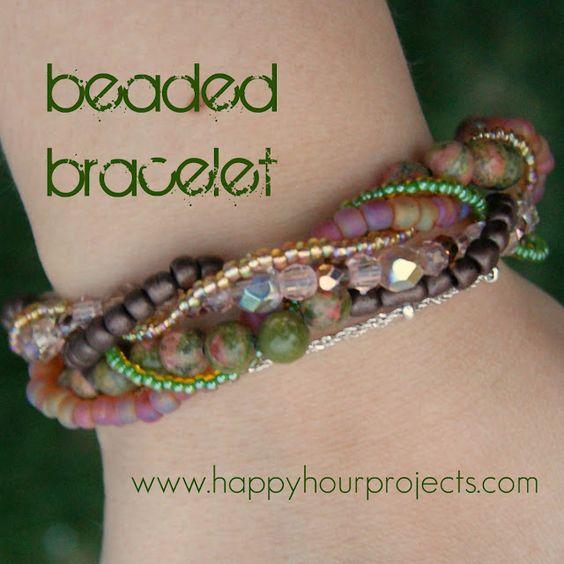 Pretty bracelet.  Happy hour projects