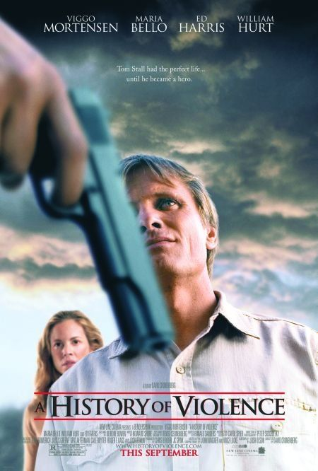 A History of Violence (2005)  A heartbreaking movie about a man trying to escape his past.