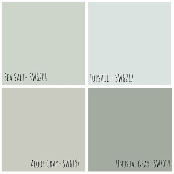 Neutral grey sherwin williams paint colors shows the - Colour contrast with sea green ...