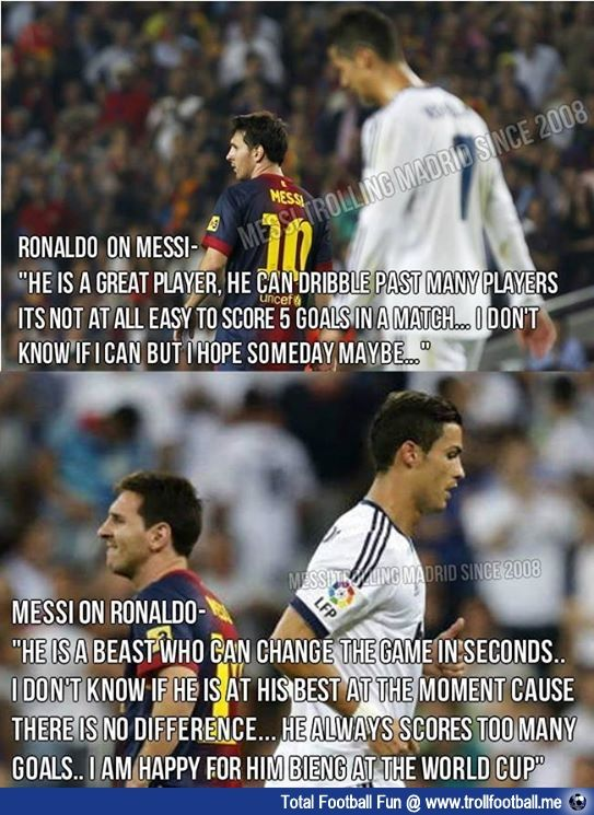 cr7 quotes about messi - photo #5