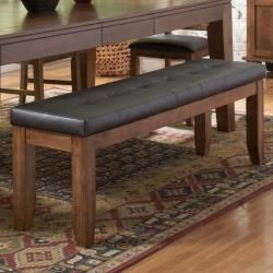 @Overstock - This Kai bench feature a versatile design for your casual dining space that provides ample seating for your family and friends. This sturdy bench also spotlights an oak finish with a bi-cast vinyl upholstery.http://www.overstock.com/Home-Garden/Kai-60-inch-Oak-Dark-Brown-Bench/5968857/product.html?CID=214117 $211.96