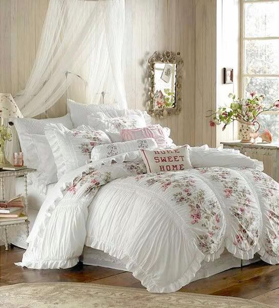 wonderful romantic shabby chic bedroom | Guest rooms, Shabby chic and Country chic bedrooms on ...