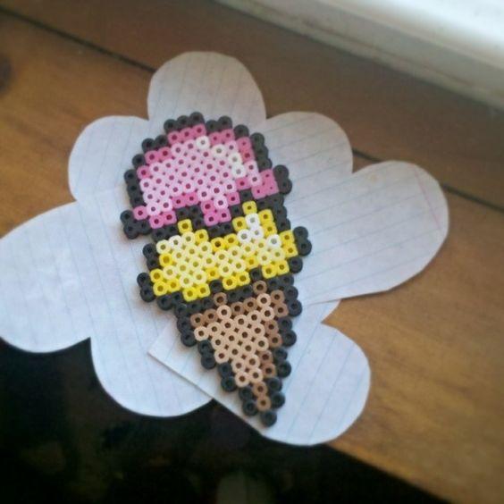Ice cream perler beads by cordyline_oleracea