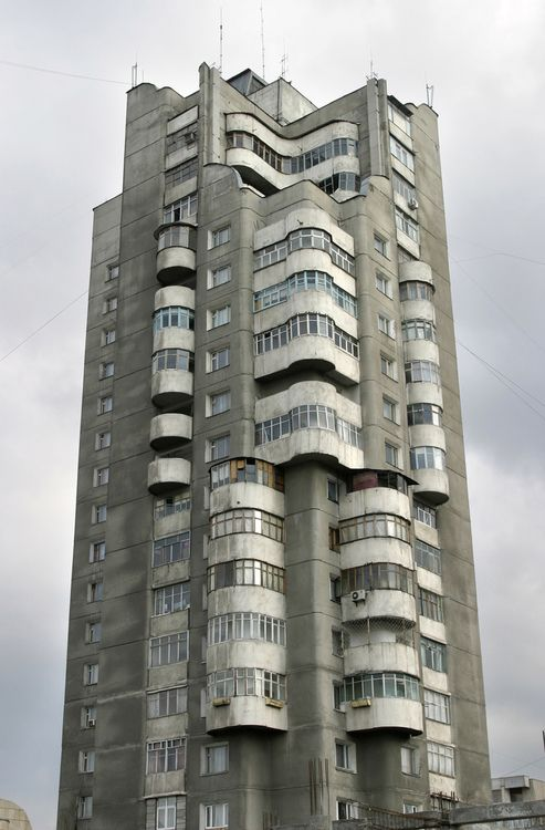 Apartment Building In Bishkek Kyrgyzstan Socialist Brutalism Architectur