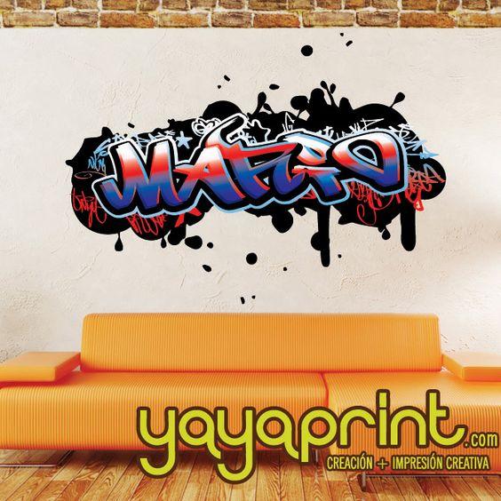 Vinilo decorativo graffiti personalizable decoraci n - Posters y vinilos ...
