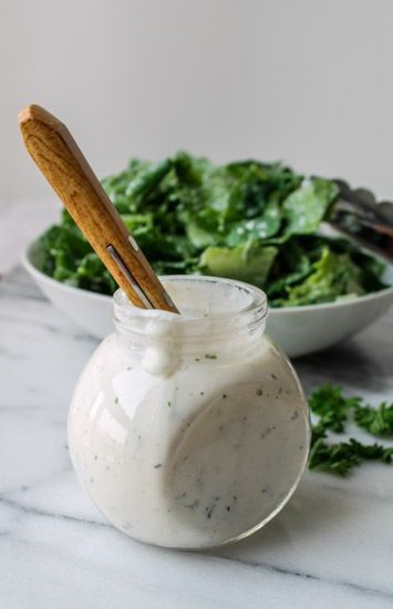 Ditch the bottle or envelope full of chemicals and whip up your own Ranch Dressing! Try this lightened up, gluten free version.