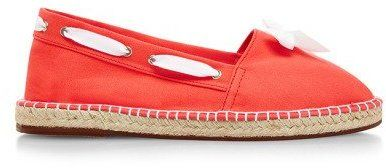 Escadrille Canvas Espadrilles with Lacing and Front Bow Fraise
