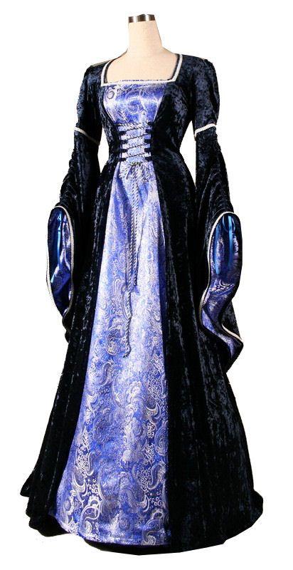 medival dresses | Dress - Ladies Medieval Renaissance Costume and Headdress - Medieval ...