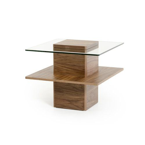 Belafonte Pedestal Coffee Table Glass End Tables End Tables Side Table