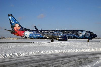 WestJet Airlines Boeing 737-8CT WL C-GWSZ (msn 37092) (Walt Disney World - Magic Plane) YYZ (TMK Photography). Image: 921920.