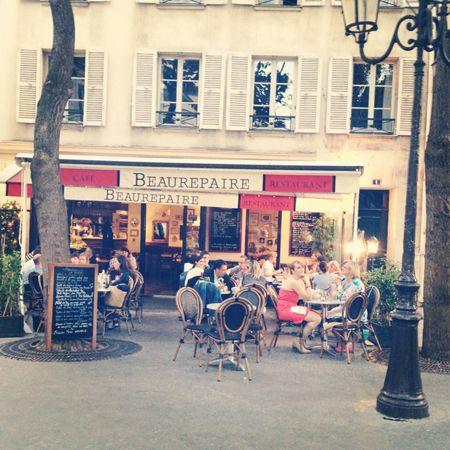 Cafe Beaurepaire in Paris.