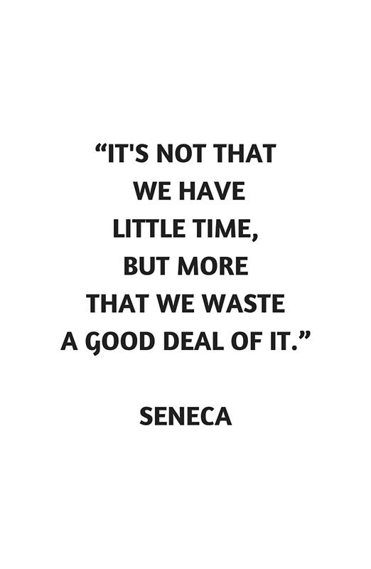 Stoic Philosophy Quote Seneca On Time Poster By