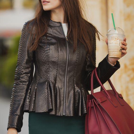 Python leather jacket by ADAMOFUR #furstyle #fashion #ootd #style #leatherjacket
