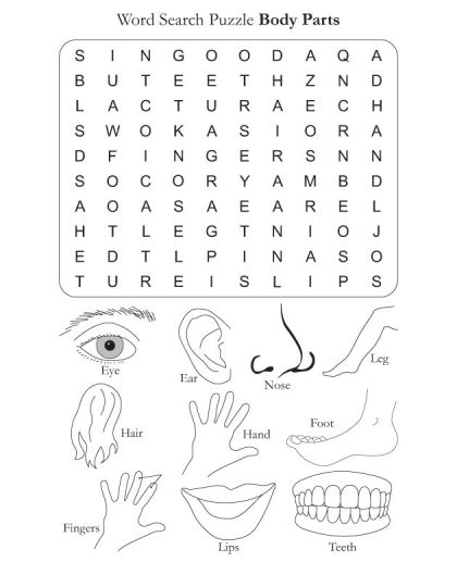 Word Search Puzzle Body Parts : Download Free Word Search Puzzle Body Parts for kids : Best ...