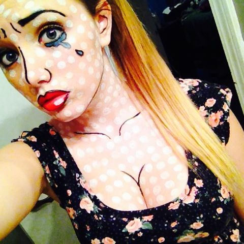 Crying comic book girl. | makeup | Pinterest | Costumes, Costume ...