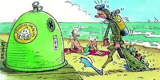 date cuenta de toda la basura que hay en los  océanos