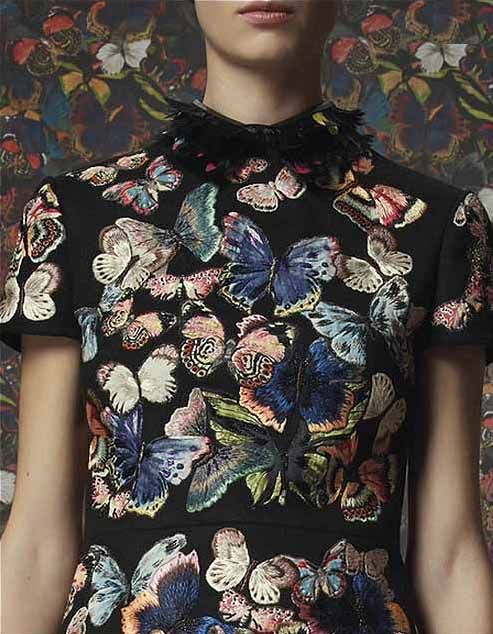Embroidered butterflies mini dress by Valentino, 2014 Textile | Design | Print…