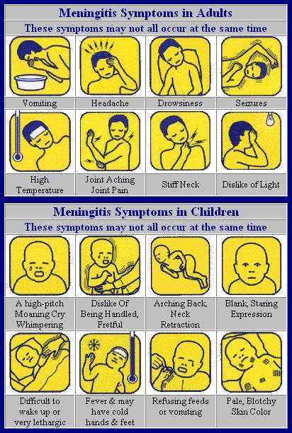Signs and symptoms of Meningitis in Adult and Children