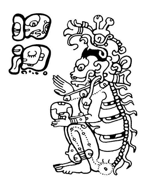 Skeletal Figure Illyustracii Acteki I Indejcy