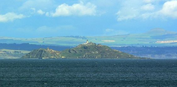 Inchkeith island in the Firth of Forth, Scotland.