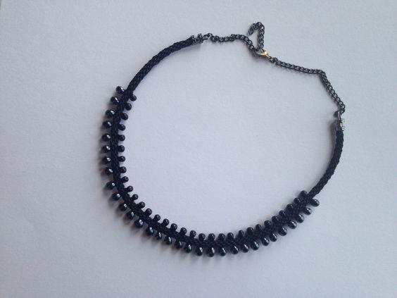 Edgey Kumihimo necklace