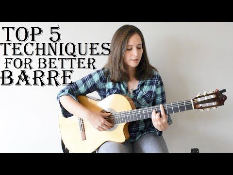 Top 5 Techniques To Hold A Better Barre On The Guitar Youtube Acoustic Guitar Lessons Easy Guitar Chords Guitar