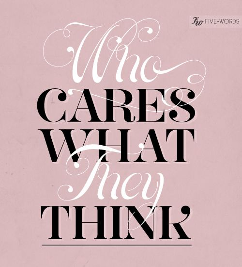who cares.