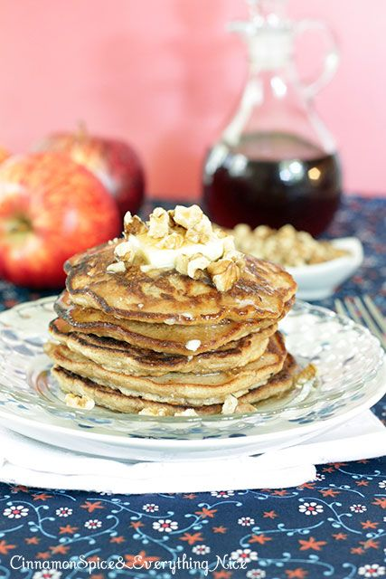 Cinnamon Apple Walnut Pancakes