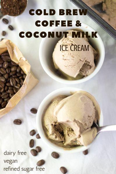 Cold Brew Coffee and Coconut Milk Ice Cream