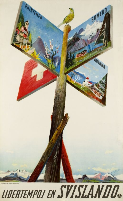 Alois Carigiet 1938 Libertempoj en Svislando
