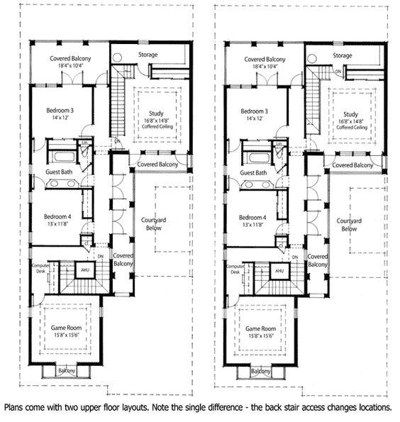 Plan ZR  Energy Saving Courtyard House Plan   Courtyard House    Energy Saving Courtyard House Plan   ZR   Southern  Traditional  Narrow Lot  Net