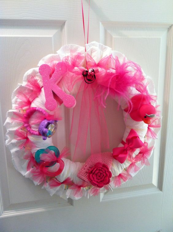 diaper wreath baby shower diapers diapers baby showers wreaths showers