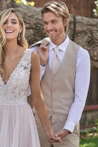 The Most Popular Groom Suits ★ groom suits vest with tie rustic jasmine